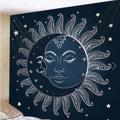 Fabric Wall Tapestry/Throw Sun and ..