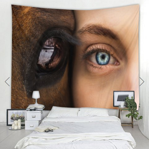 Fabric Wall Tapestry/Throw Horse Lo..